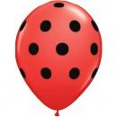 Printed Latex Balloons, Big Polka Dots Green, Radar GI.DOTS.VERDE