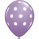 Baloane latex lila inscriptionate Big Polka Dots, Radar GI.DOTS.LILA