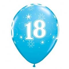 "11"" Printed Latex Balloons - 18, Qualatex 45683"