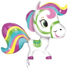 "Super Shape Little Pony Rainbow Balloon - 28""x27"", Amscan 26838"