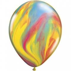 Yellow Orange SuperAgate Latex Balloon, 11 inch (28 cm), Qualatex 91541, Pack of 25 pieces