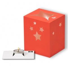Lampion decorativ cu stelute - Cosmo Pink, Radar 0937, 1 bucata