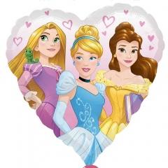 Balon folie inima Printese Disney - 45cm, Amscan 34267