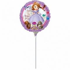 Balon Mini Folie Sofia Intai + bat si rozeta, Amscan, 23 cm, 27950