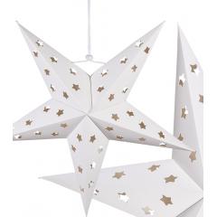Stea alba din hartie pentru agatat, 40 cm, Radar 960092
