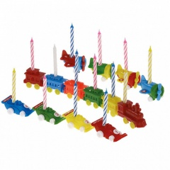 Birthday Candle Carrier Assorted, Amscan 550187, Set 6 buc