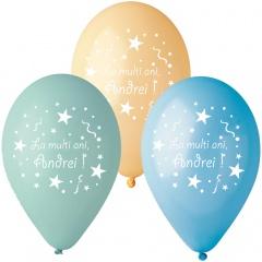 Baloane inscriptionate - La multi ani, Andrei, 12 buc