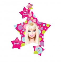 Balon folie figurina Barbie stea - 81x89cm, Amscan 118225
