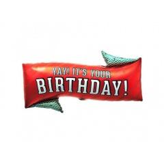 Balon Folie Yay! It's Your Birthday! 79 cm, Northstar Balloons, 00707