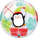 """Balon Bubble 22""""/56cm Qualatex, Pinguin & Cadouri, 43438"""