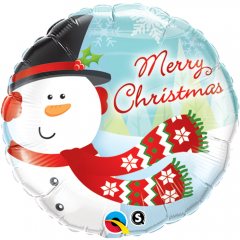 "Zoom Balon Folie 45 cm ""Merry Christmas"", Qualatex 18867"