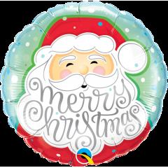 """Folie 45 cm """"Merry Christmas"""", Qualatex 43516"""
