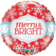 """Folie 45 cm """"Merry & Bright"""", Qualatex 18945"""