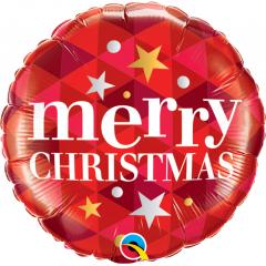 """Folie 45 cm """" Merry Christmas """", Qualatex 43493"""