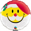 Balon Folie 45 cm Smile Mos Craciun, Qualatex 54814