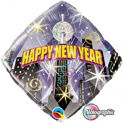 "Folie 45 cm "" Happy New Year "", Qualatex 54149"