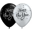 "Baloane latex 11"" inscriptionate Happy New Year, Qualatex 40905"