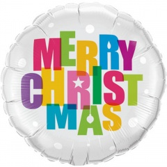 """Folie 45 cm """" Merry Christmas """", Qualatex 54145"""