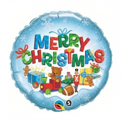 "Balon Folie 45 cm "" Merry Christmas "", Qualatex 40079"