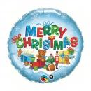 """Folie 45 cm """" Merry Christmas """", Qualatex 40079"""