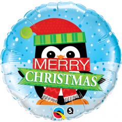 """Folie 45 cm """" Merry Christmas """", Qualatex 18973"""