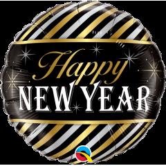 """Folie 45 cm """" Happy New Year """", Qualatex 43525"""