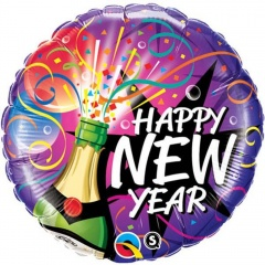 "Balon Folie 45 cm ""Happy New Year"", Qualatex 40085"