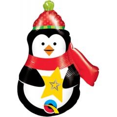 "Balon Folie Mini-Figurina Pinguin - 14""/35 cm, Qualatex 43459"