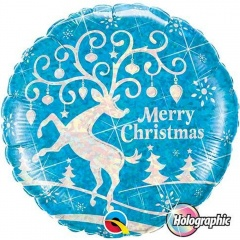 Merry Christmas Foil Ballon 45 cm, Qualatex, 54147