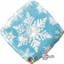 Snow Flake Foil Ballon 45 cm, Qualatex, 40093