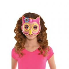 Masca pentru copii - Sequin Owl, Amscan 844002-55