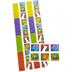 Jungle Party Stickers, Amscan 158406, Pack of 12 pieces