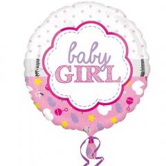 Balon Folie 45 cm Baby Girl, Amscan 33643, 1 bucata