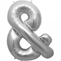 Balon folie mare simbol &  argintiu - 86cm, Northstar Balloons 00899