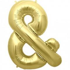 Balon folie simbol & auriu - 41cm, Northstar Balloons 01053