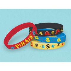 4 Bracelets Little Pirate, Amscan 397242