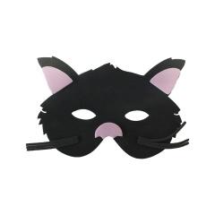 Cat Face Mask - Black, Amscan 500075, 1 piece
