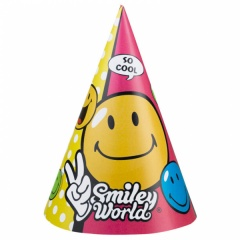 Coif petrecere copii  Smiley, Amscan 250123, Set 6 coifuri