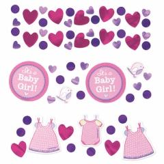 "Confeti ""It's a baby girl"", Amscan 341489"