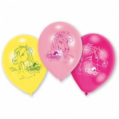 """8"""" Printed Latex Balloons, Charming Horses Assorted, Amscan 450289, Pack of 6 pieces"""