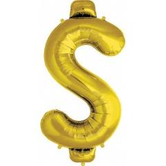 Balon folie mare simbol dolar  auriu - 86cm, Northstar Balloons 00894