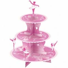 Suport prajituri 3 nivele pentru petrecere  30 cm cu balerine, Amscan 998317, 1 buc