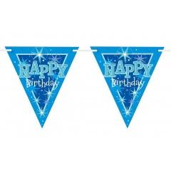 Banner decorativ pentru petrecere -3.6m, Happy Birthday, Qualatex  45575, 1 buc