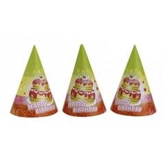 Coifuri petrecere copii Happy Birthday, Amscan RM250113, Set 6 buc