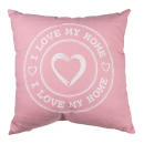 Perna decorativa I love my home - roz, 40 x 40 cm, Radar 190241