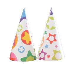 Coifuri de petrecere 20 cm cu desene - buline si stele, Radar 25864