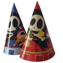 Coifuri de petrecere 20 cm cu desene - pirati, Radar 25809