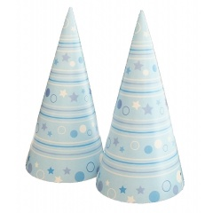 Coifuri de petrecere 20cm cu desene bleu , Radar 25858