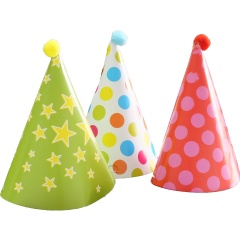 Coif petrecere copii  cu ciucure, Amscan 9900139, Set 6 buc