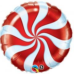 Balon Folie 45 cm Acadea cu Alb si Rosu, Qualatex 64329